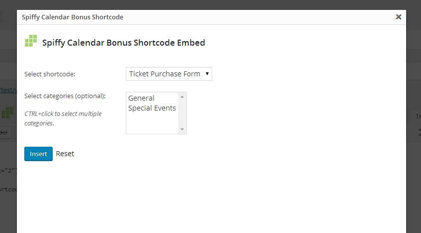 Order Form Shortcode Embed