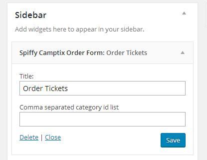 Order Form Widget